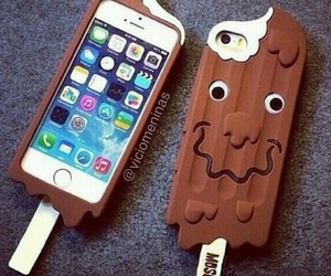 chocolate and iphone image