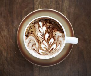 brown, caffe latte, and coffee image