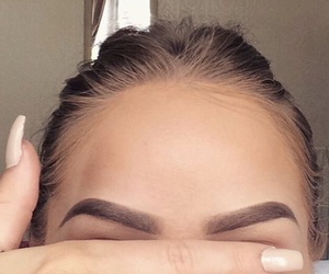 eyebrows, nails, and glam image