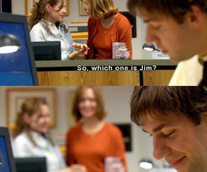 the office, jim halpert, and love image