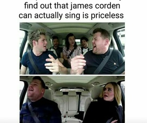 Adele, james corden, and one direction image