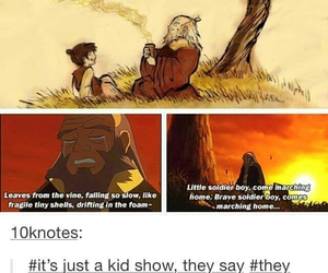 avatar the last airbender, soldier boy, and iroh image