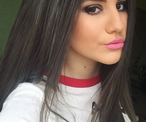 eyes, girls, and hair image