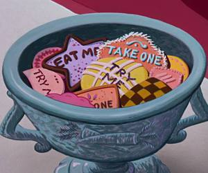 alice in wonderland, disney, and eat me image