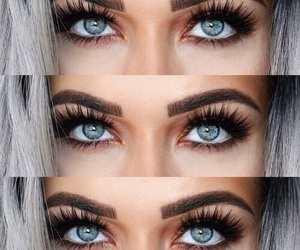 eyes, eyebrows, and makeup image