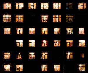 light, night, and windows image