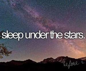 stars, sleep, and before i die image