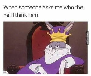 funny, bugs bunny, and king image