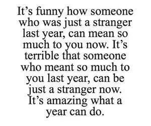 quote, strangers, and year image
