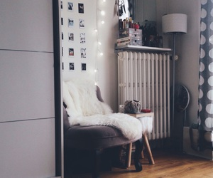 appartment, christmas lights, and cosy image
