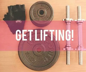 workout, fitness, and lift image