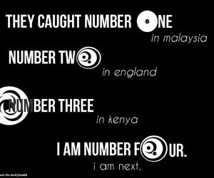 black and white, i am number four, and lorien legacies image