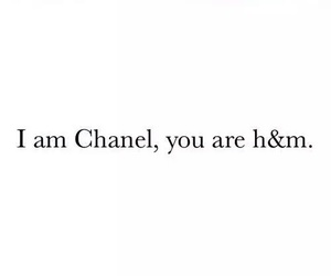 chanel, H&M, and quote image