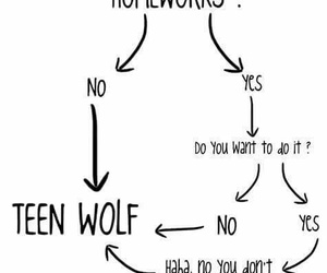 teen wolf, teenwolf, and homework image