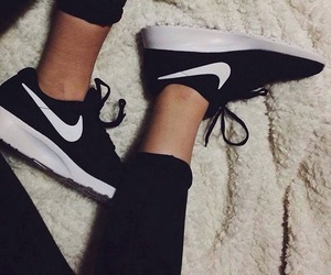 shoes, trainers, and blackandwhite image