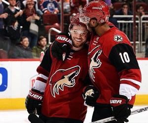 happy, hockey, and hug image