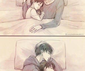 bed, hug, and eren jaeger image