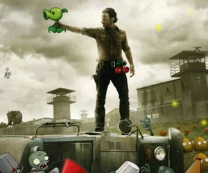 the walking dead, plants vs zombies, and zombies image