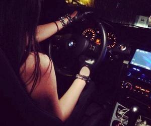car, girl, and bmw image