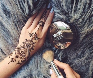 henna, tattoo, and makeup image