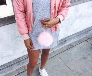 outfit, style, and bomber jacket image