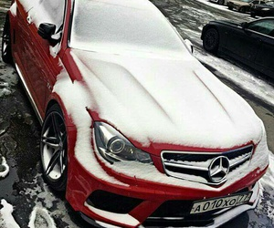 cars, red, and snow image