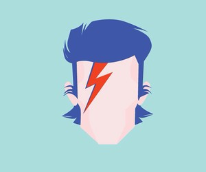 david bowie, graphic design, and graphic designer image