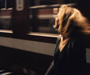 girl, train, and grunge image