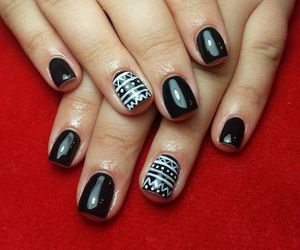 black, knitted, and nails image