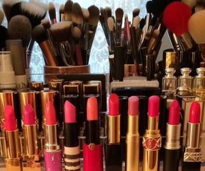 lipstick, beauty, and Brushes image
