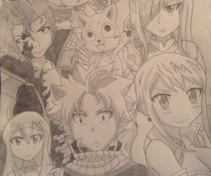 anime, draw, and fairy tail image