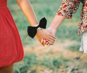 girl, friends, and hands image