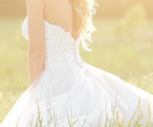 beauty, chic, and wedding dress image