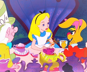 alice in wonderland, classic, and cute image