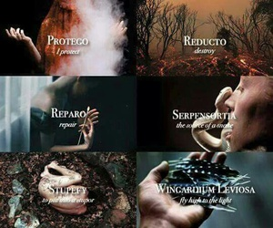 harry potter, spell, and hogwarts image
