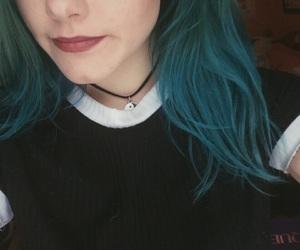 alternative, black, and blue hair image