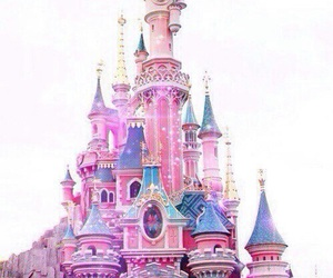 Disney Pink And Castle Image