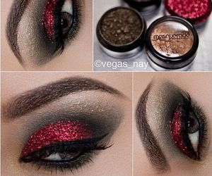 makeup, make up, and red image