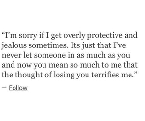 jealous, protective, and quotes image