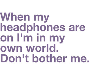 music, quotes, and headphones image