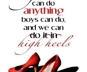 anything, girls, and high heels image