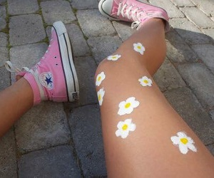 daisy, flowers, and carefree image