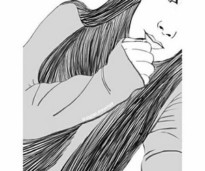 black&white, outlines, and selfie image