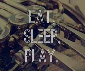 eat, marching band, and play image