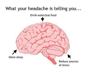 headache, brain, and hacks image