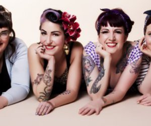 50s, girls, and rockabilly girls image