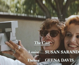 geena davis, ridley scott, and thelma and louise image