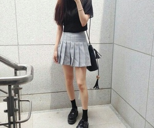 outfit, grunge, and kfashion image