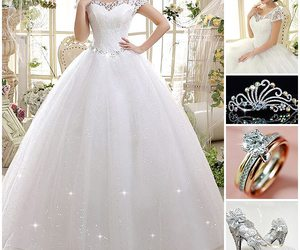 wedding dress, wedding shoes, and ericdress reviews image