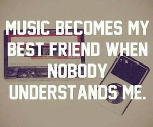 music, understand, and best friend image